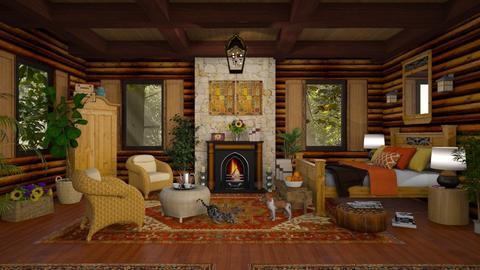 Log Cabin Bedroom - Bedroom - by lydiaenderlebell