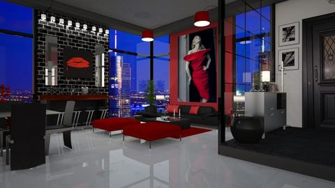 Woman in Red - Living room - by bigmama14