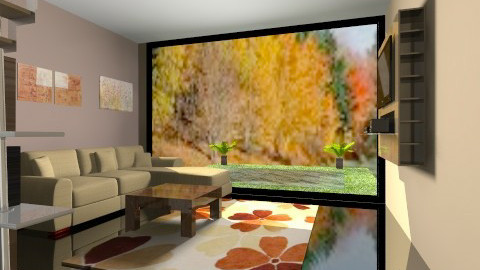 Autumn room - Living room - by ivacolakovic
