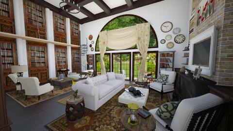 Living Room - Rustic - Living room - by maja97