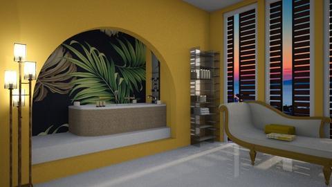 Yellow bathroom - Bathroom - by kristianvalchev