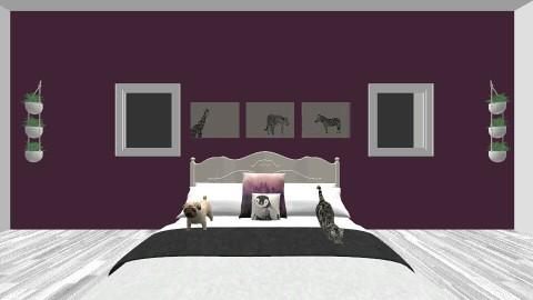 Purple and white room - Bedroom - by Abigail Gholston
