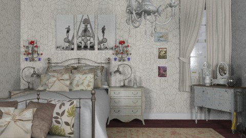 vintage bedroom - Vintage - Bedroom - by sarahl