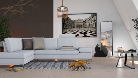 Maple_Room - Living room - by ZuzanaDesign