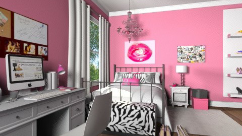 Pink Teen Bedroom - Glamour - Bedroom - by allilaz