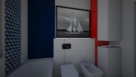 Kolbiel lazienka - Modern - Bathroom - by Marta architect