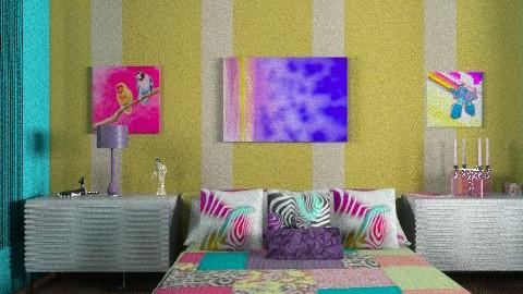 funky retro - Retro - Bedroom - by mywishlr