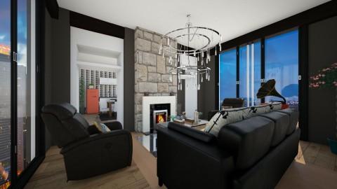 black but perfect - Living room - by eleonoraxruc