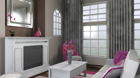 pink - Feminine - Living room - by jauxier2002