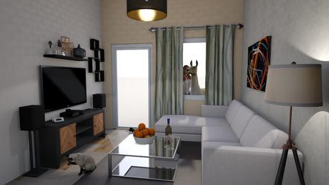 Mieszkanie - Living room - by Czarli