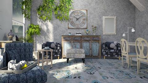 Template_ room - Living room - by ZuzanaDesign