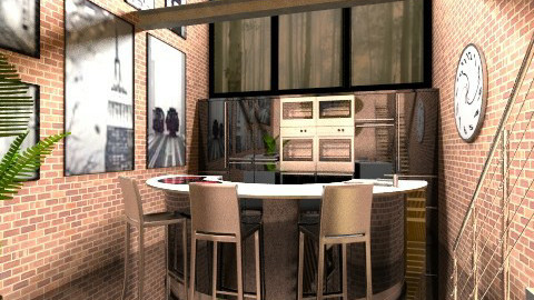 Loft Kitchen - Eclectic - Kitchen - by Theadora