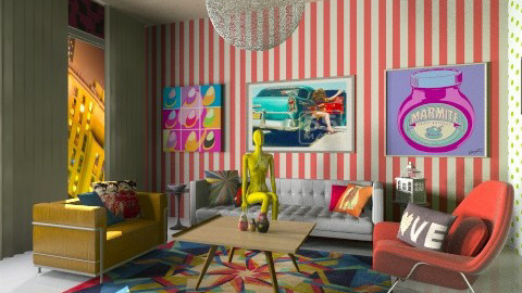 mix and match - Retro - Living room - by aduropluvia
