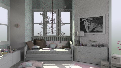my bedroom in dreams - Vintage - Bedroom - by bia_freitas