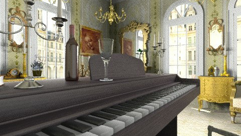 Mozart Harpsichord - Classic - Living room - by Bibiche