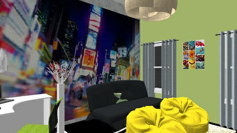 Lounge - Retro - Kids room - by tamaragideon