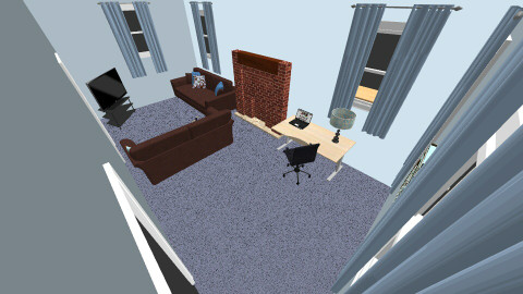 living room  RL - Living room - by sketchbookdesign