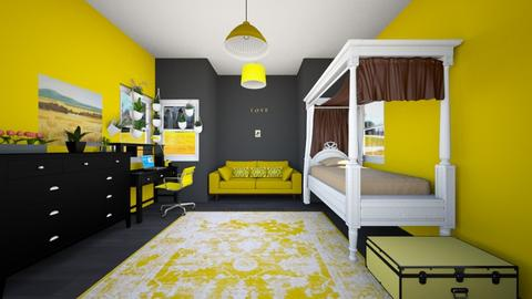 Hufflepuff Inspired Room - Bedroom - by SammyJPili