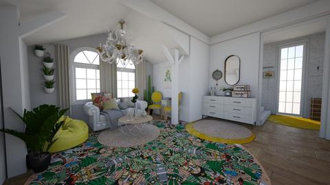 yellow - Living room - by aidaburani