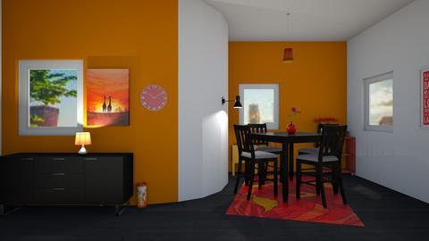 Cafe Orange - Retro - by Isaacarchitect