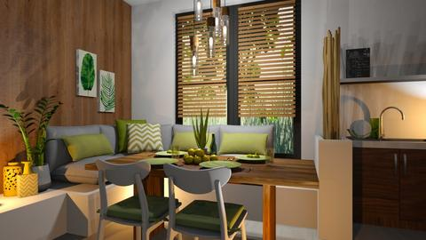 Green dining - Dining room - by RonRon
