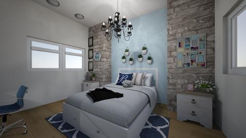 Somewhat Blue - Bedroom - by ellarowe224