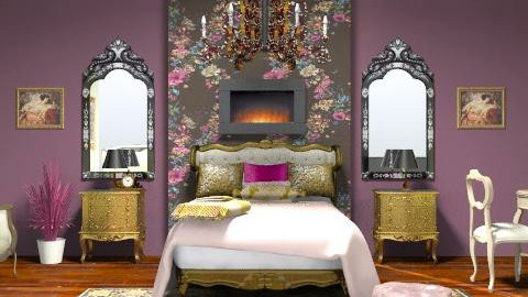 PURPLE - Classic - Bedroom - by dredre1030