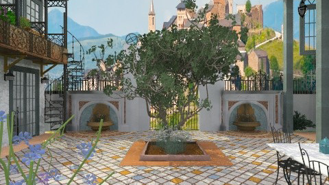 Spanish Gallery - Classic - Garden - by starsector