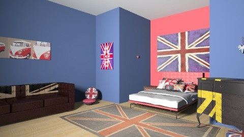 British Bedroom  - Modern - Bedroom - by lorenemma