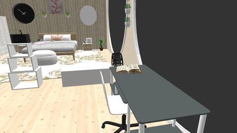 Student Loft - Living room - by kwagstaff123