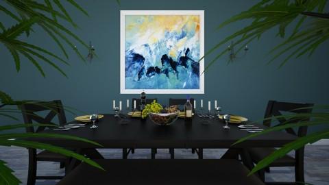 Navy - Modern - Dining room - by Saharasaraharas