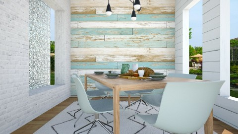 Shiplap  - Eclectic - Dining room - by Kelstay