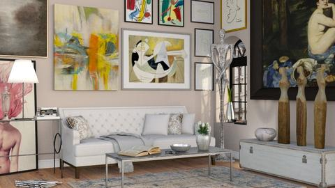 The Art Collector - Eclectic - Living room - by Sally Simpson