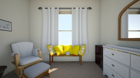 Nursery Bench Seat - Rustic - Kids room - by savannaroberts23