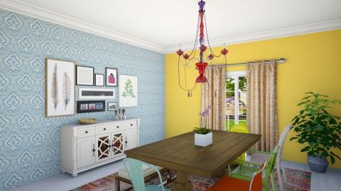 fun eclectic dining room - Eclectic - Dining room - by McMansion Hell