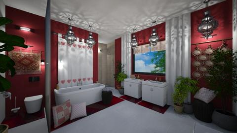 modern bohemian bathroom - by Matilda de Dappere