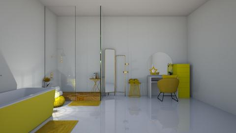 yellow bathroom - Modern - Bathroom - by Marie Harrer