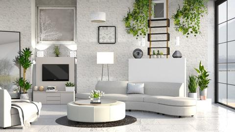 M_G - Modern - Living room - by milyca8