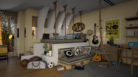 17 year old boy s room - by ZsuzsannaCs