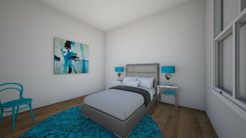 Simple Blue - Bedroom - by LaughingDonut