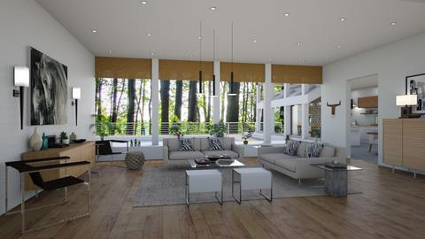 Woods House Living Room - Living room - by LizyD