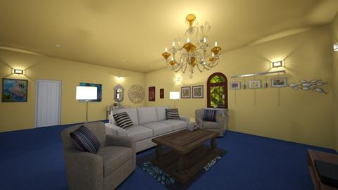 Yellow Living Room  - Living room - by Katie Khambata