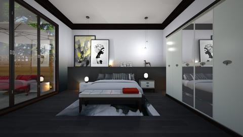Grey and Black - Bedroom - by yonvie