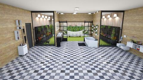 green - Rustic - Bathroom - by kellynazha