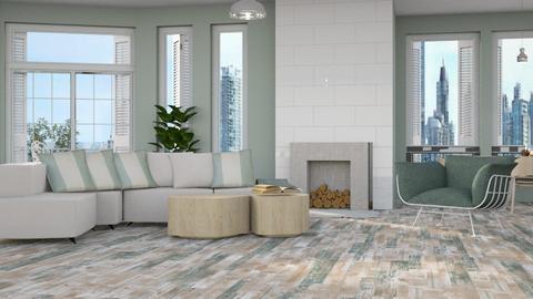 OAK Flooring - Modern - Living room - by NEVERQUITDESIGNIT