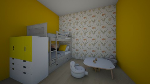 Yellow Bedroom - by lil Lew