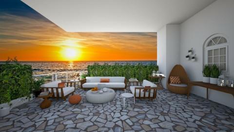 Sunset in Greece - by ElenaSpr