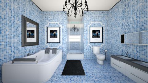 Powder Blues - Glamour - Bathroom - by Addie Smooches