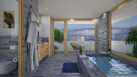 balcony bay bath - Modern - Bathroom - by hrHGEHJGF