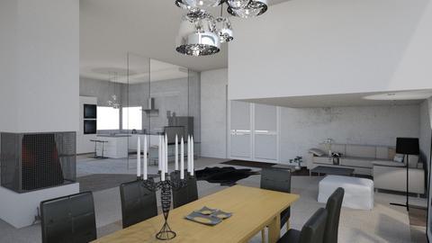 house 1 - Modern - Living room - by natkaloveee